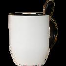 Keramikas krūze ar krāsainu iekšpusi, ar karoti. Cena konstruktorā - 9.80 € ar apdruku