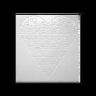 Square heart puzzle (glancēts)